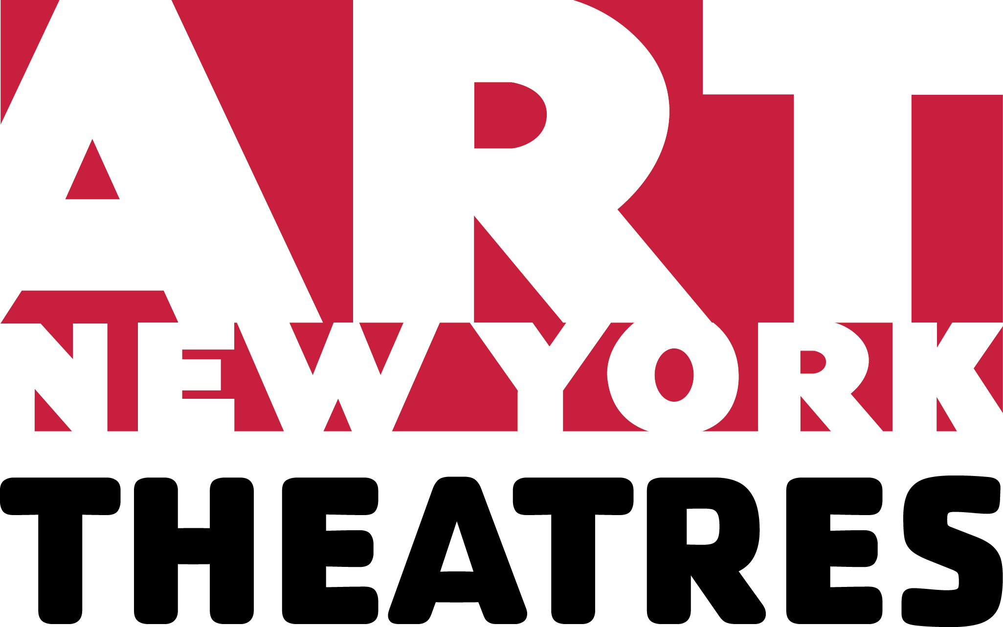The ART/New York Theatres logo written in red, white, and black block letters.