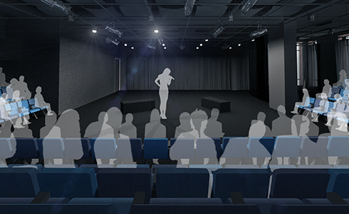 An Architectural Rendering of the Mezzanine Theatre