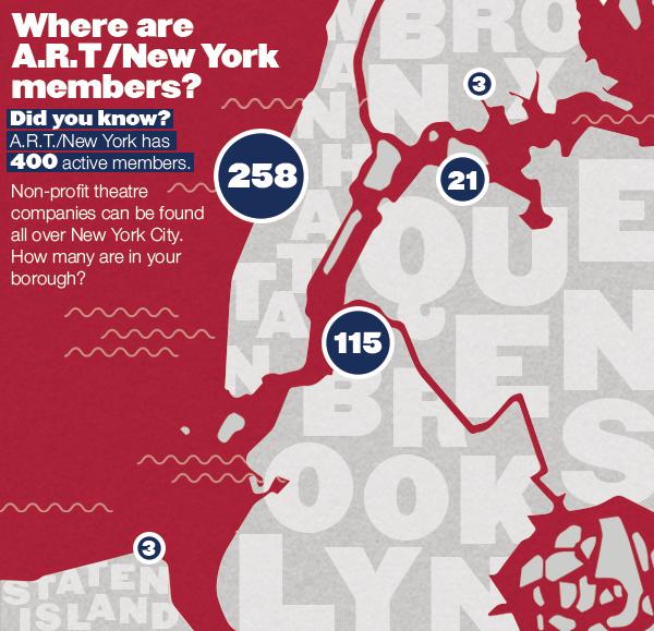A.R.T./New York membership map