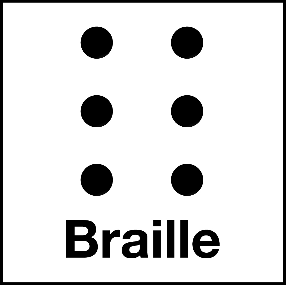 The universal icon for Braille.