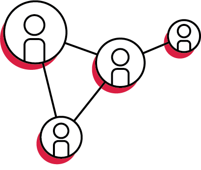 illustration of networking